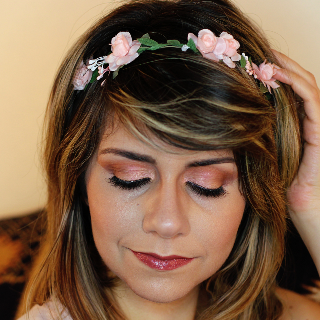 frankiefrancy soft pink bridal makeup