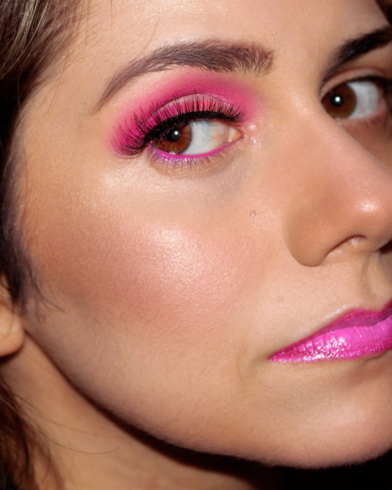 frankiefrancy pink makeup for women's day with ombre lips