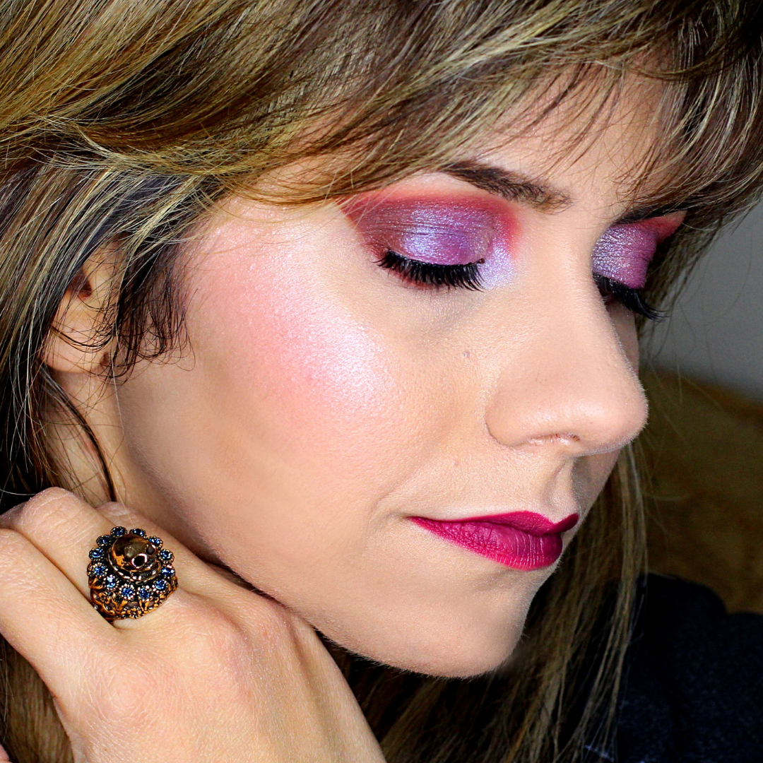 frankiefrancy purple smokey eye